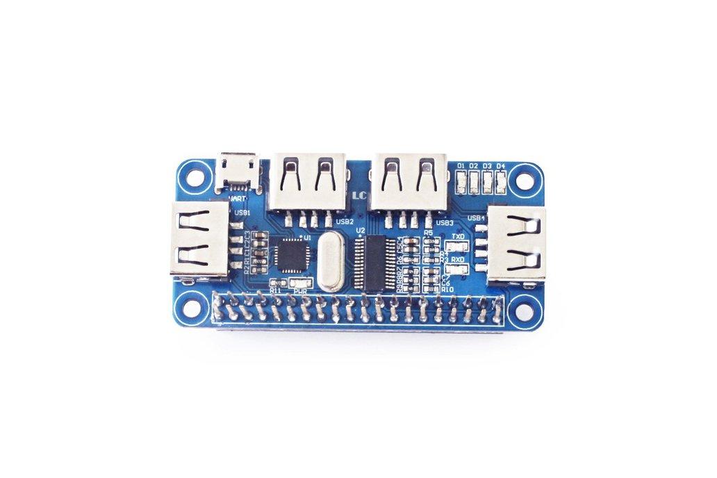 4 Ports USB HUB HAT for Raspberry Pi 3 / 2 / Zero 1