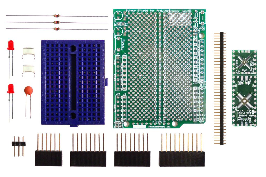 SchmartBoard ez .5mm Pitch QFP/QFN to DIP adapter (Arduino Uno) 1