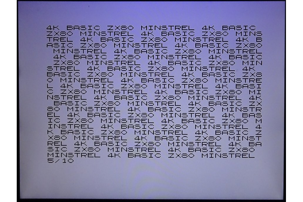 Minstrel ZX80 Clone Open version 7