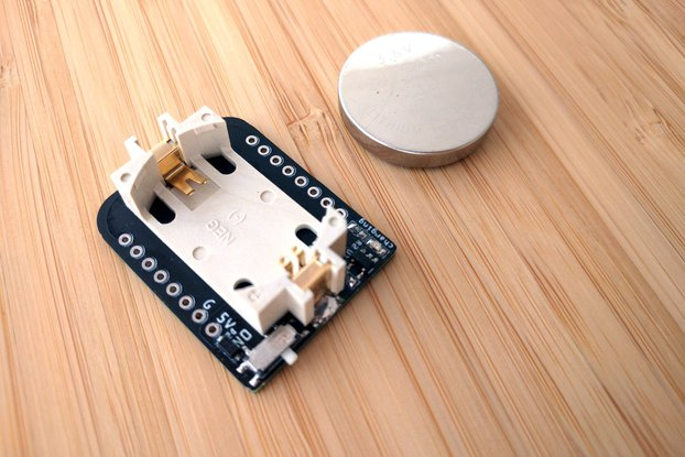 Rechargeable Coin Battery Shield for D1 Mini