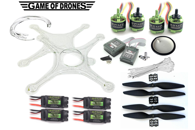 ASL Certified DIY Drone Kit (Clear)