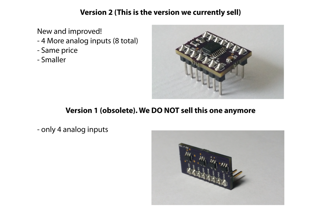 ESP8266 Analog Inputs Expander (Version 2) 2