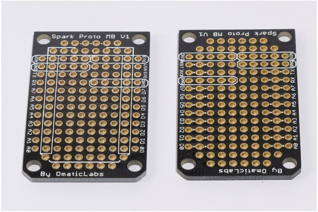 Three Pack of Protoboards for SparkCore 2