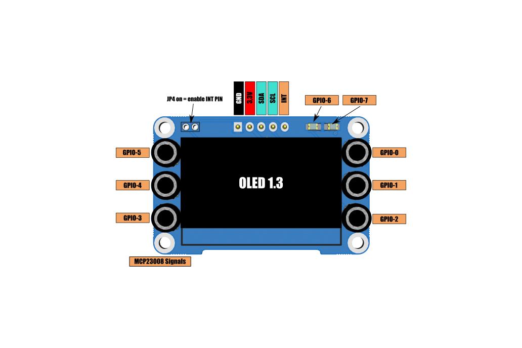 OLED display I2C white 128x64 1 3