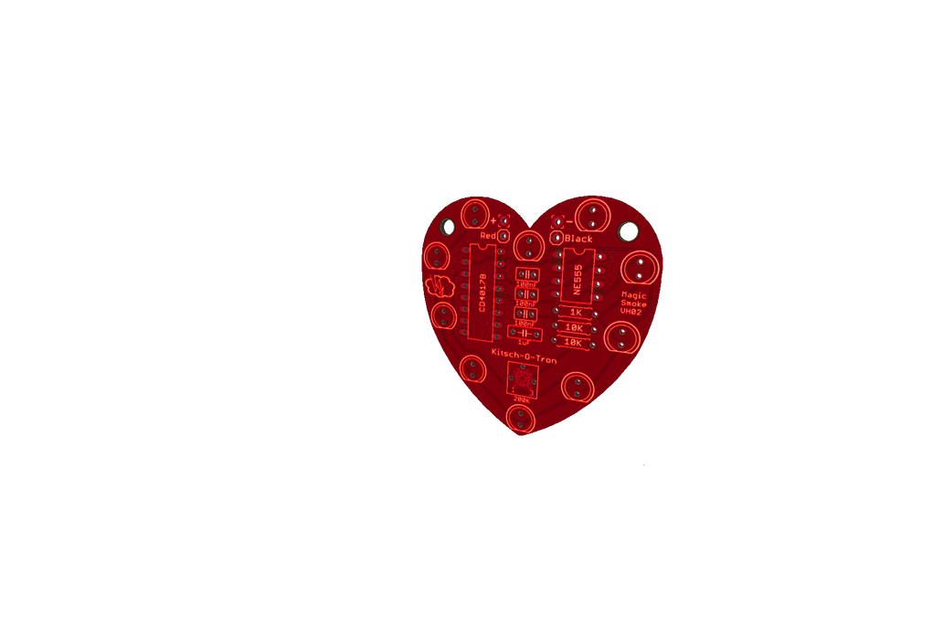 Heart-Shaped LED Chaser (PCB only) 1