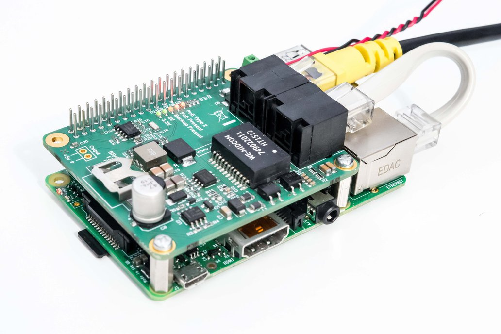 PoE (Power over Ethernet) for Raspberry Pi 2,3,3+ 1