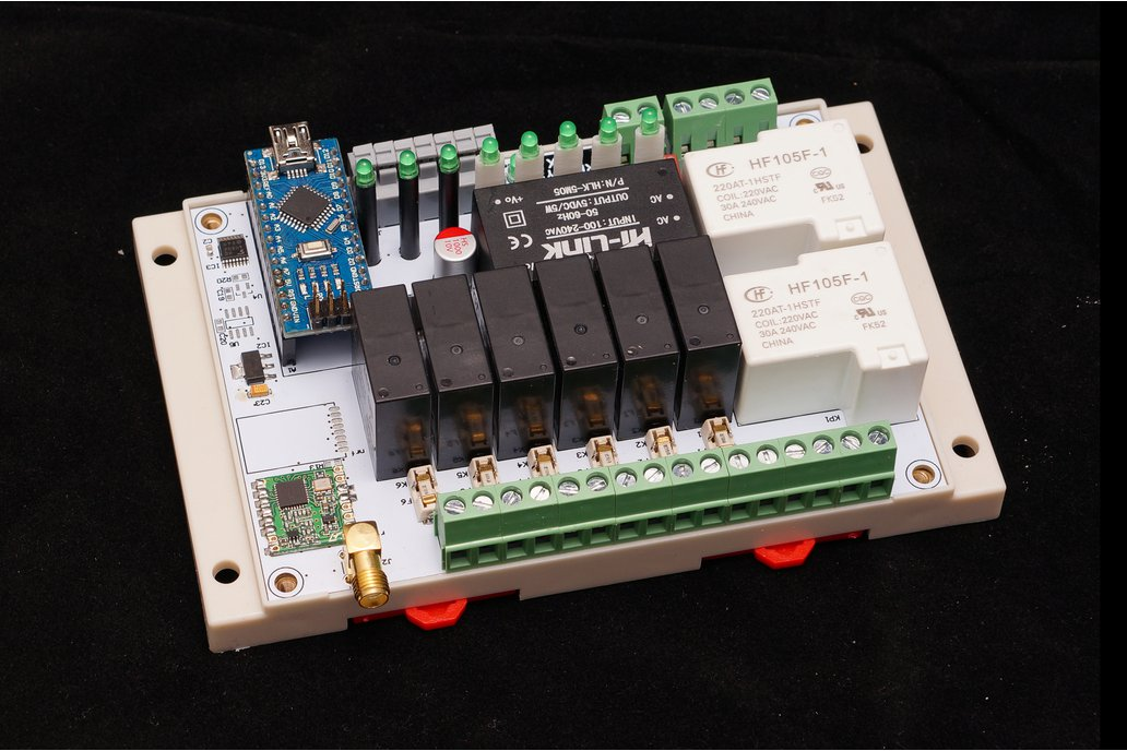 Arduino Nano 8 Relay Board wireless RFM69/95 NRF24 3