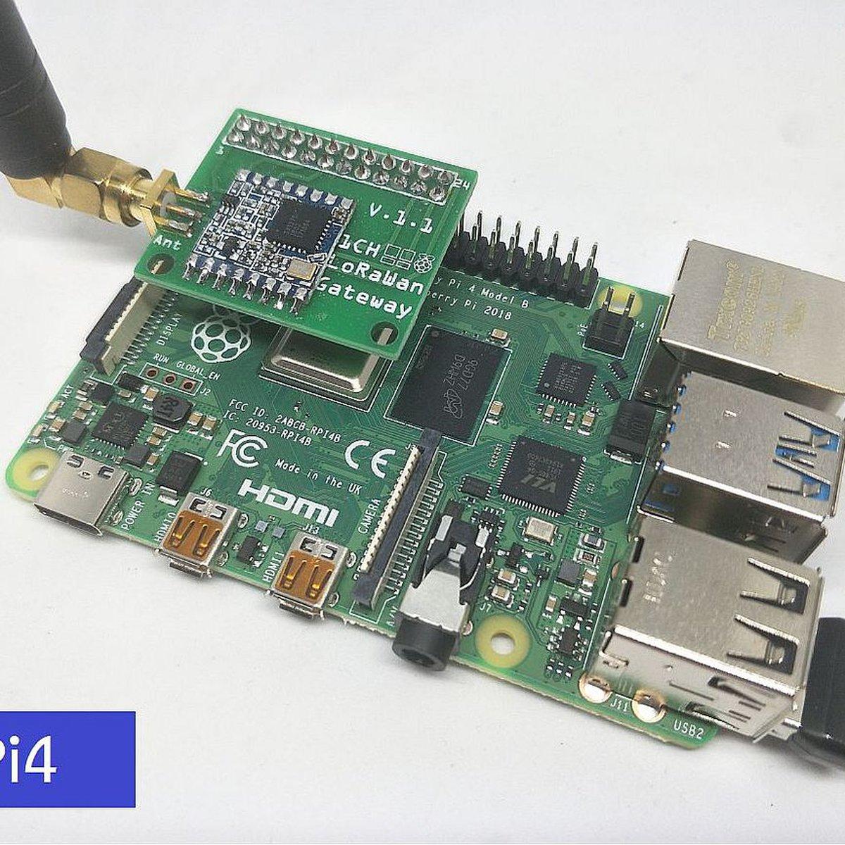 1 Channel LoRaWan Gateway Shield for Raspberry Pi4 from M2M