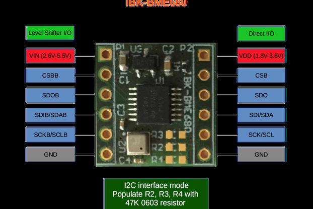 BME680 Temperature, Pressure, Humidity, Gas sensor