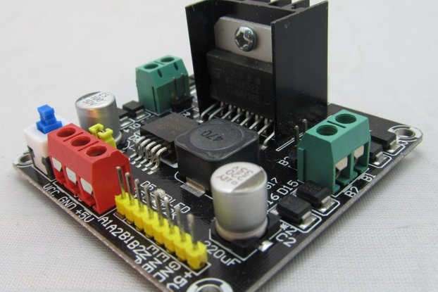 2DC Motor Controller compatible with arduino for 2WD robot chassis