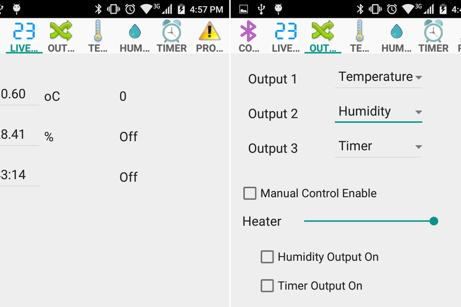 Incubator Controller with Bluetooth and Android ap