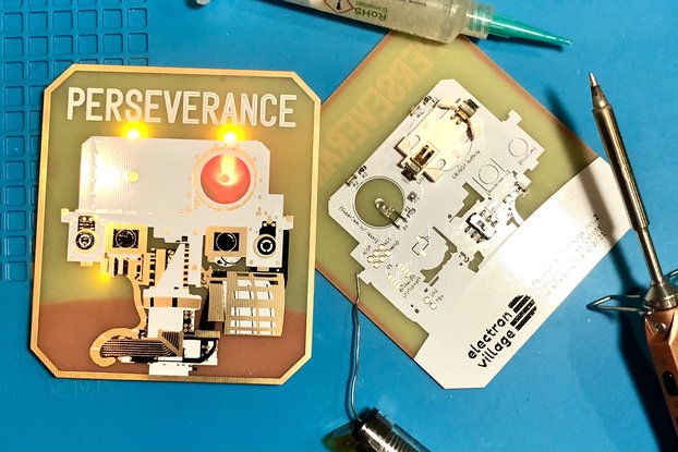 Mars Perseverance Rover Badge (kit or PCB)