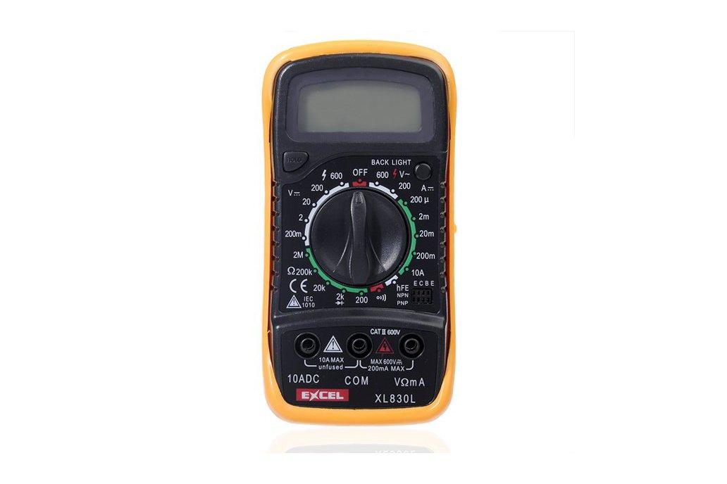 LCD Digital Voltmeter Ohmmeter Ammeter Tester 1