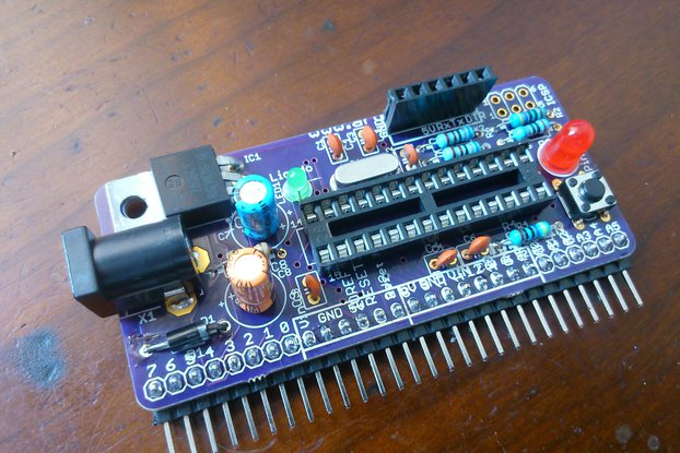Vertically mountable Arduino - PCB only