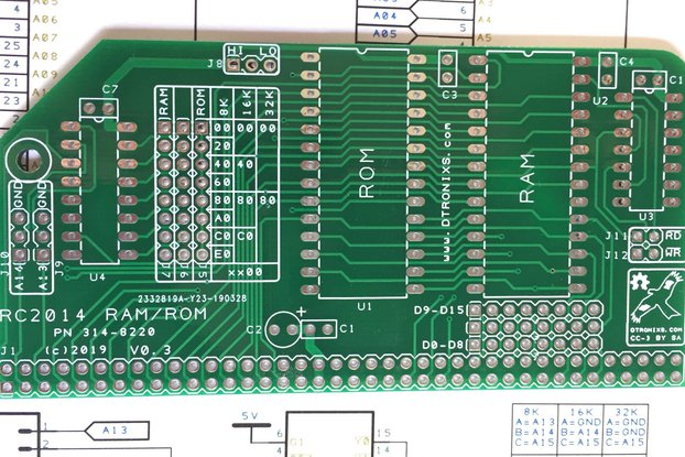 ROM/RAM card for RC2014