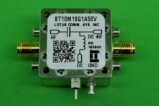Bias Tee Broadband 10 MHz to 18 GHz (Max. 1A) 50V