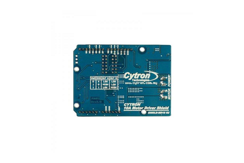 Cytron 10A Motor Driver Shield (Arduino)  3