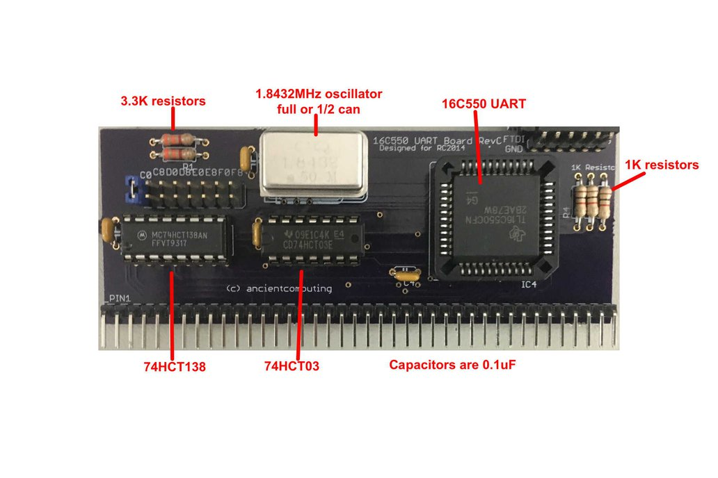 16C550 UART Board for RC2014 3