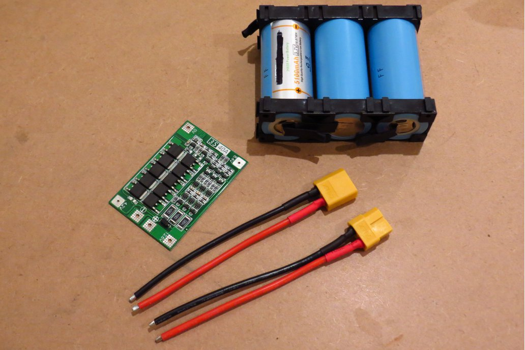DIY 12V +5000mAh Battery Lithium 3S 1