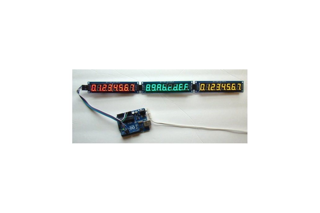 Serial 8-digit 7-segment LED display (Red) 4