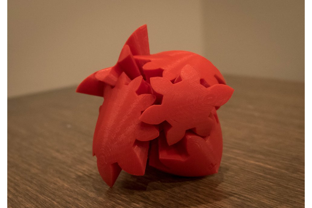 3D Printed Gear Heart/Heart Puzzle 1