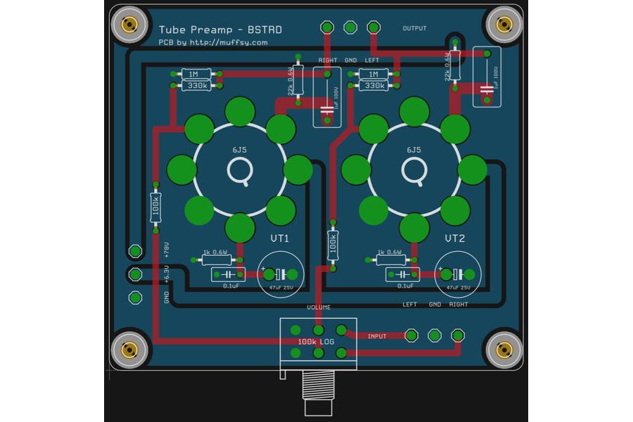 The Muffsy BSTRD - Class A Tube Preamp PCBs