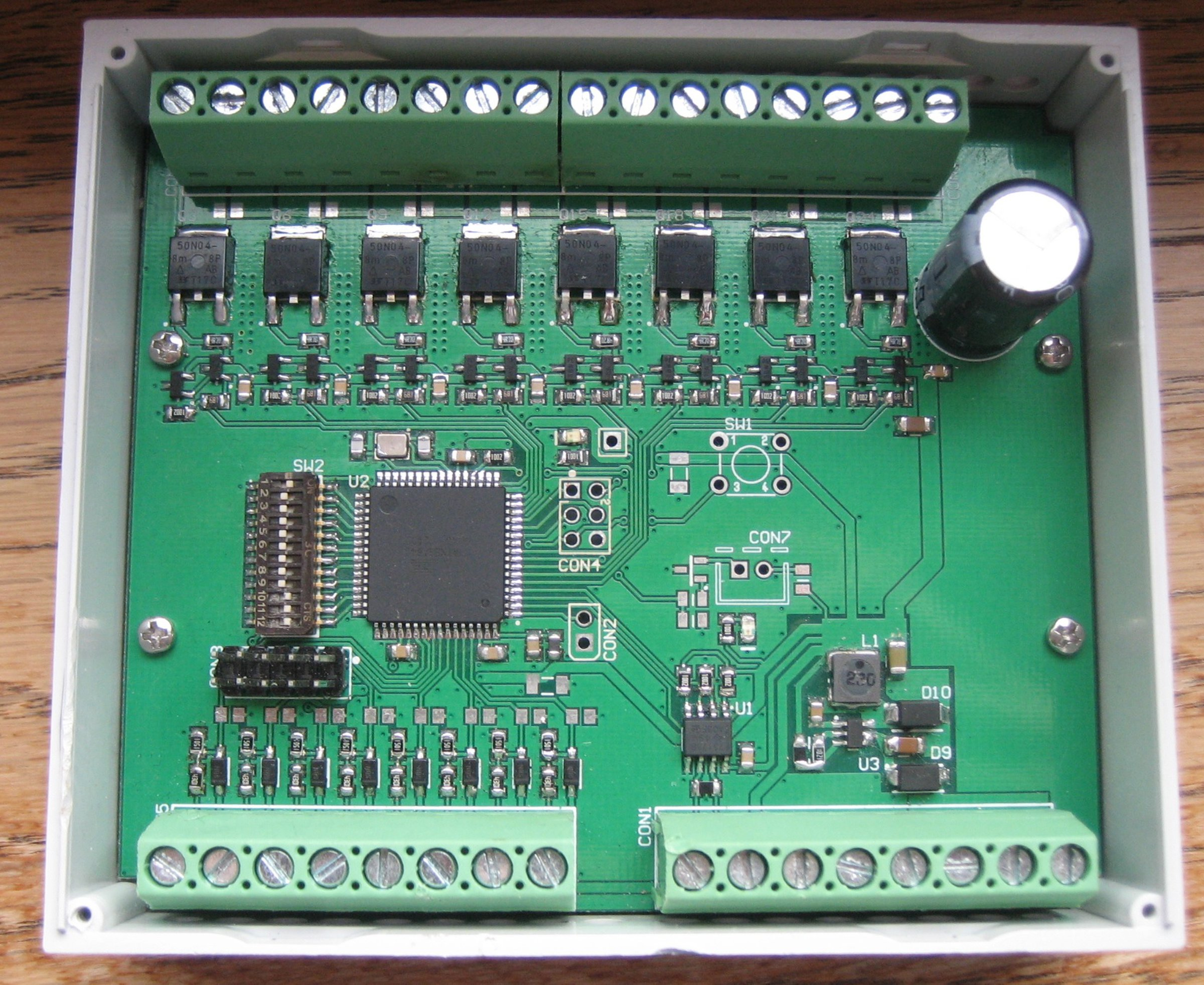 8ch LED dimmer (0-10V, DMX, Modbus) from nbTec.be on Tindie