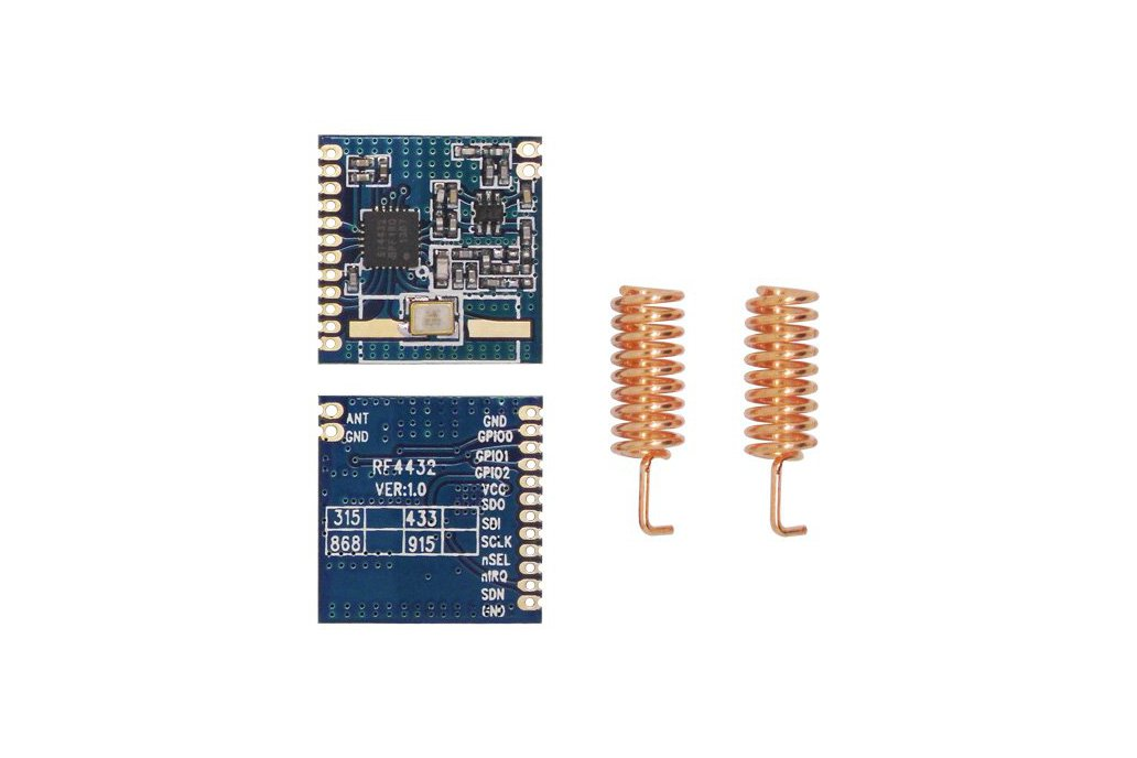 2pcs 433MHz FSK wireless transceiver module RF4432 3