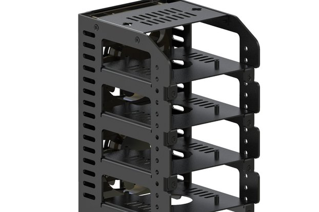 Cluster, Metal Rack Case with Protection Shield