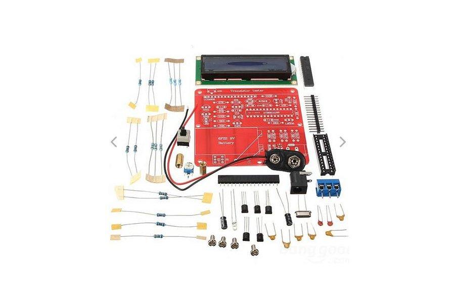DIY Meter Tester Kit For Capacitance ESR Inductance Resistor NPN PNP Mosfet M168