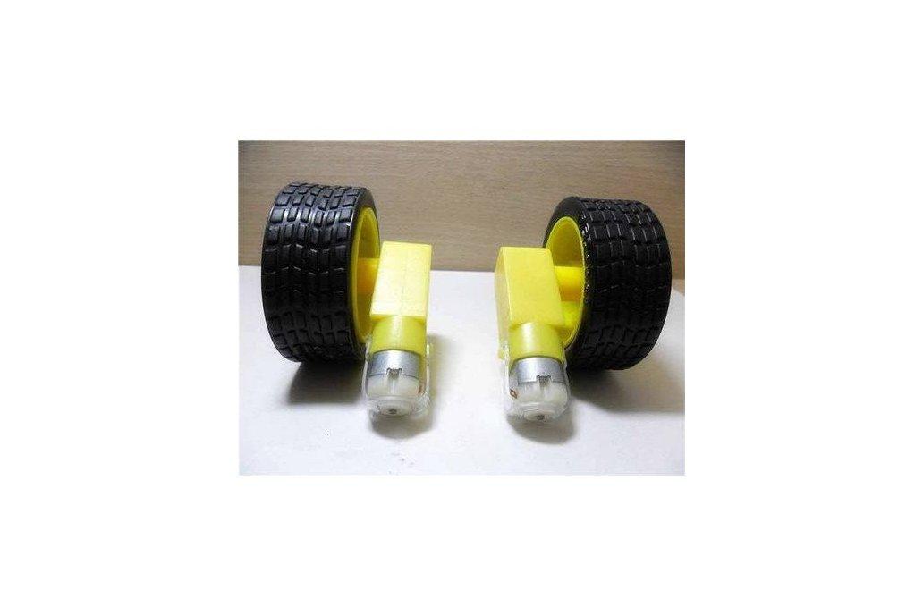DC Gear Reduction Motor Single Shaft TT Motor With Tyre(4 pcs/pack) 1