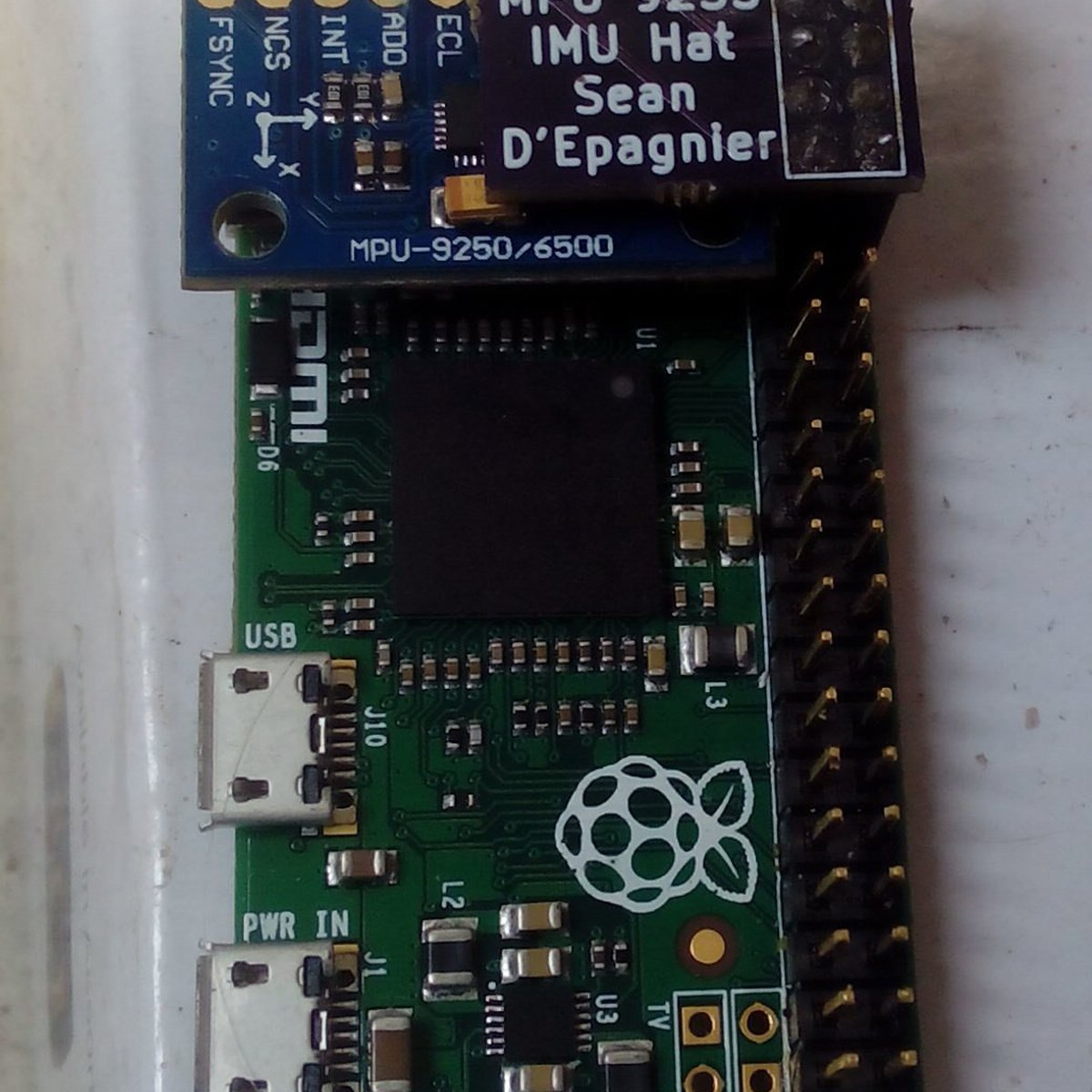 raspberry pi imu hat mpu9255 from Sean D'Epagnier on Tindie