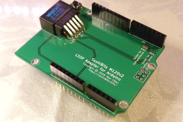 Optical UART Shield for Arduino (M120v3)