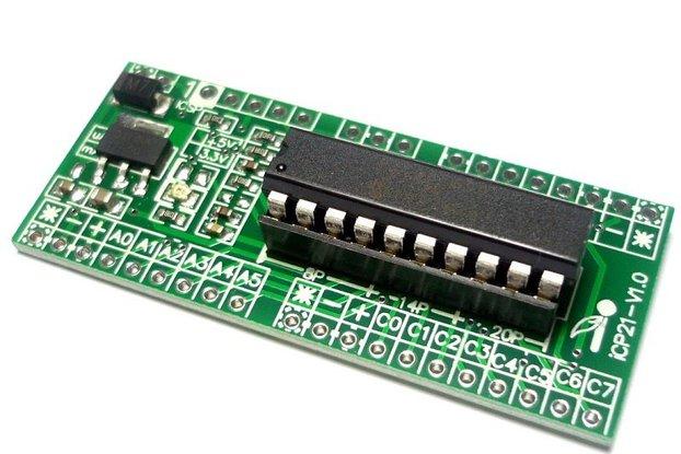 iCP21- Microchip 8, 14 & 20 pins PIC16  IO Board