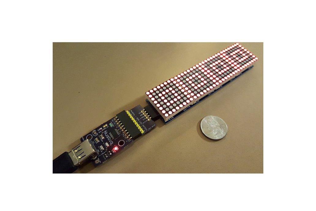 Nusbio Board + 32x8 LED Matrix 1