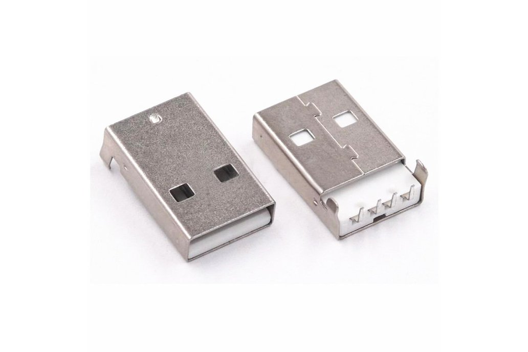 USB-A female socket and USB A male head 1