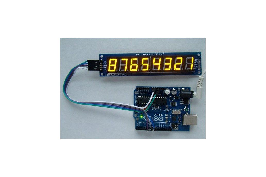Serial 8-digit 7-segment LED display (Yellow) 2