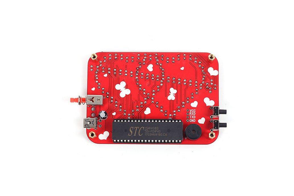 RGB LED Heart-Shaped Flashing Light Kit (13054) 3