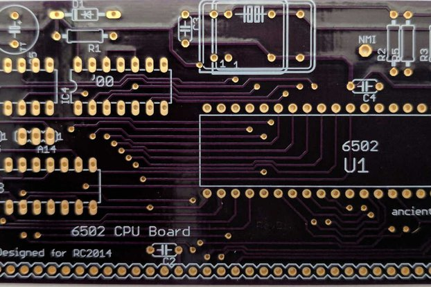 6502 CPU Board for RC2014