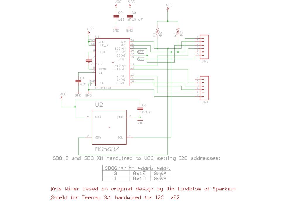 LSM9DS0 Teensy 3.X Micro Shield 5