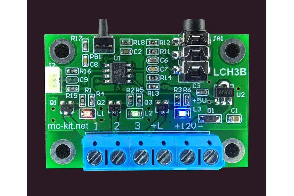 Color Organ, LED Sound Light Show - HomLiCon LCH3B 1