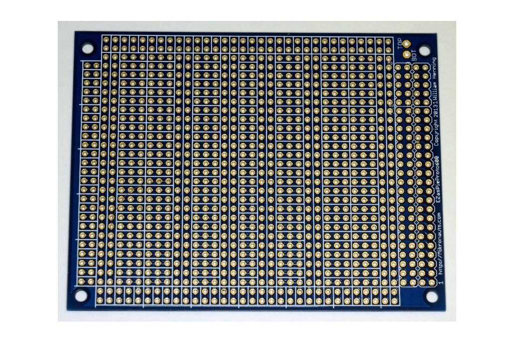 EZasPieProto600 large bussed prototyping board 1