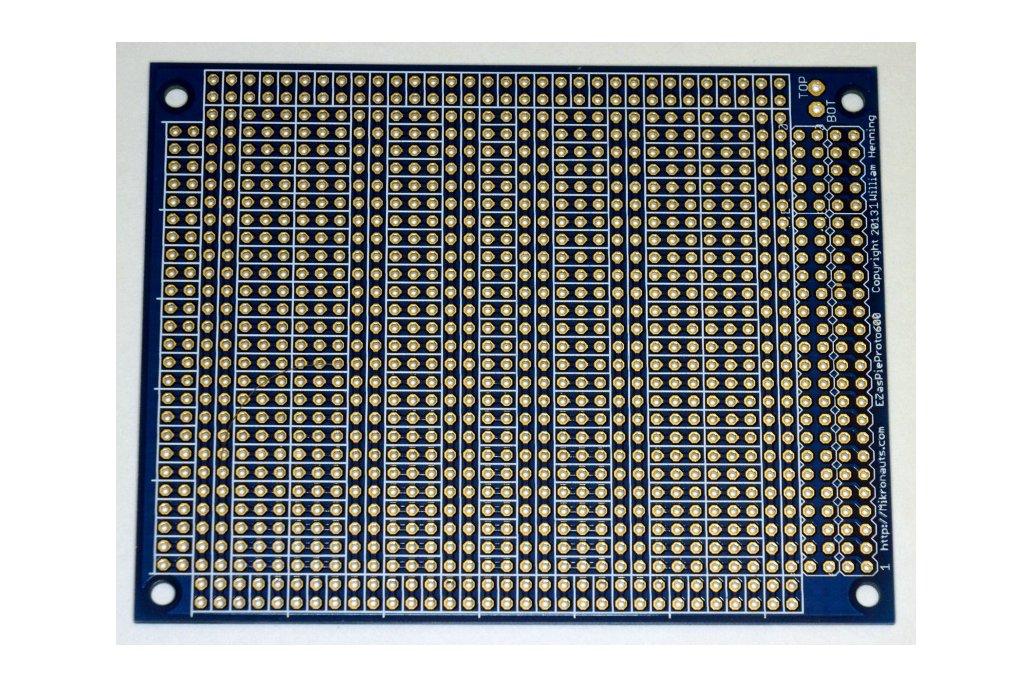 EZasPieProto600 large bussed prototyping board 1