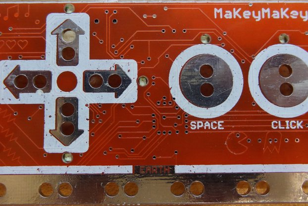 This is the PCB for the sparkfun MakeyMakey ver