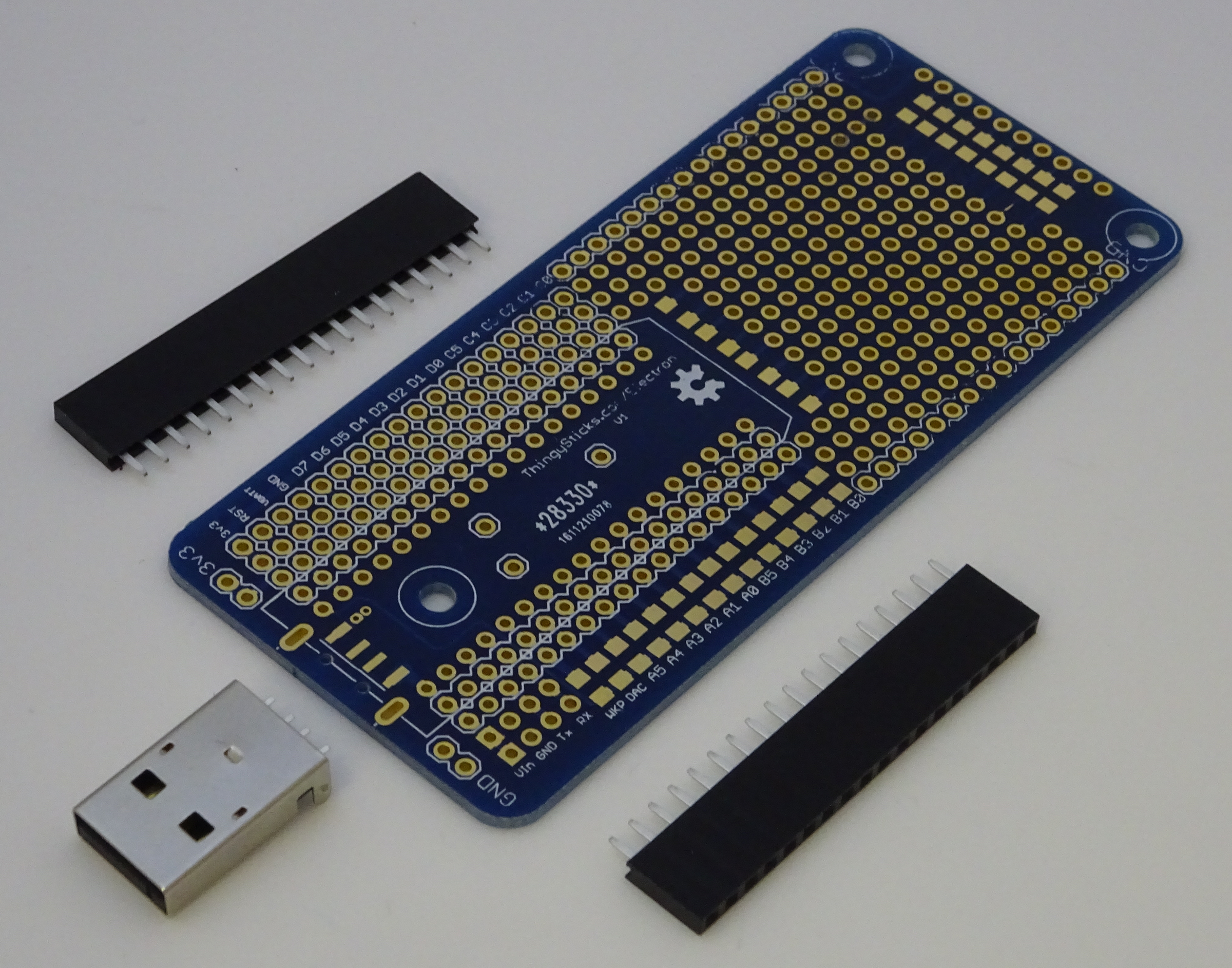 Prototype Pcb For The Particle Electron From Thingysticks On Tindie Mini Printed Circuit Board Breadboard Free Shipping 1