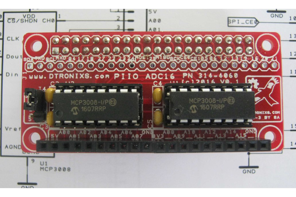 Raspberry Pi Zero - PIIO ADC16 16-ch Analog 1