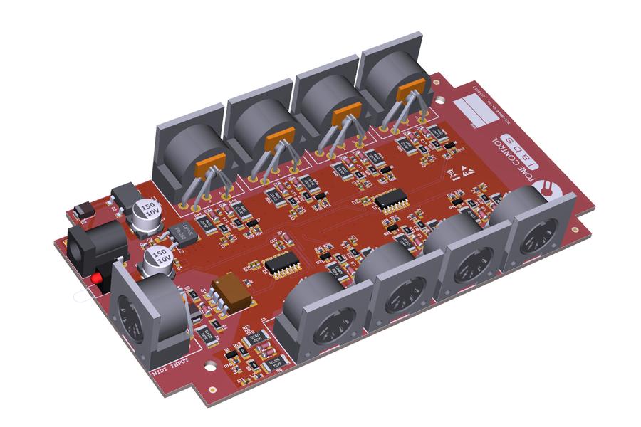 8 Way MIDI Thru/Splitter Box