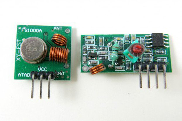 RF Transmitter + Receiver Pair