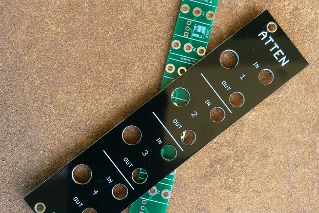 Quad Attenuator (Eurorack PCB Set)