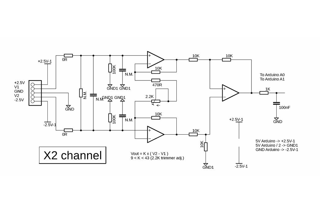 Differential Amplifier Shield for Arduino Uno 5